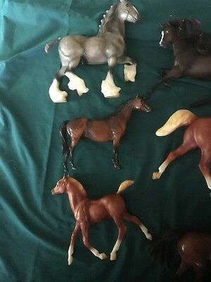 Lot Of 6 Plastic Horses