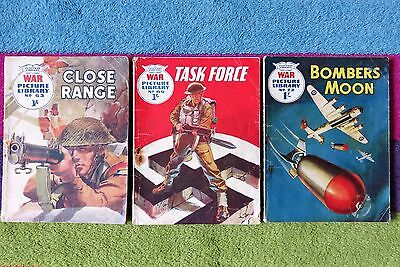 War Picture Library Comic 1960 # 63 66 & 72 Close Range Task Force Bombers Moon
