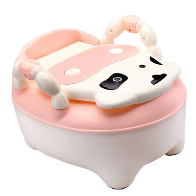 Kids Toddler Throne Potty Seat Toilet Training Chair Removable Lid Pink