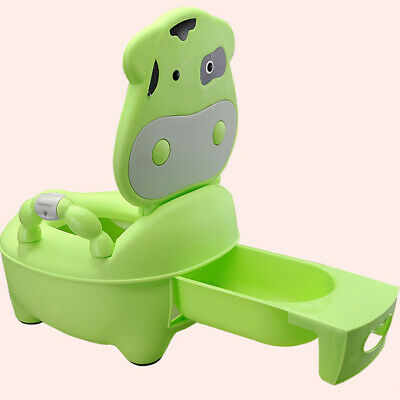 Easy Clean Kids Toddler Potty Training Chair Seat Removable Potty Lid Green