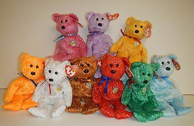 TY Beanie Babies DECADE 10 Year Anniversary Bears 2003 Retired - 9 Colors