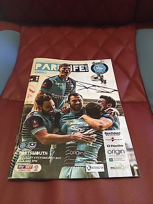 Wycombe Wanderers v Portsmouth 2017 Sky Bet League Two Football Programme