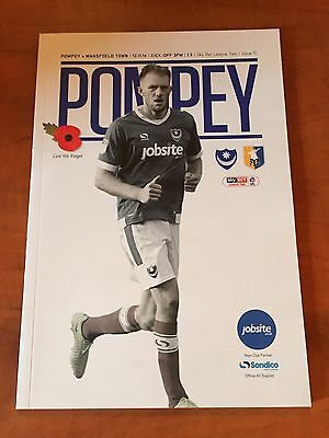 Portsmouth V Mansfield Town 2016/17 Sky Bet League Two Football Programme