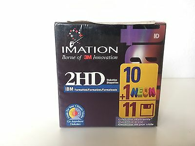 Imation 2HD 10 + 1 Neon 1.44 MB 3.5 Inch Discs