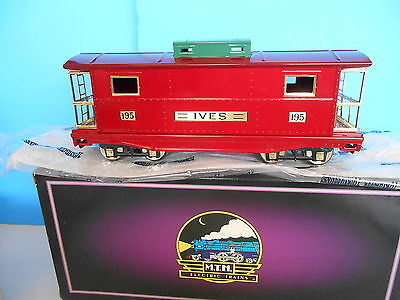 Mth Tinplate Traditions Std Gauge 10-2015 Ives 195 Caboose W/ Orig Box