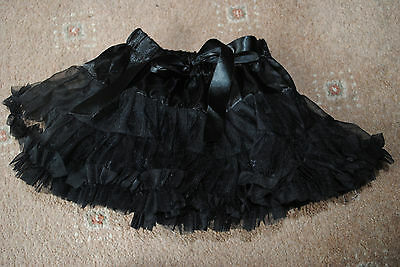 Baby girls black tutu skirt age approx 12 months