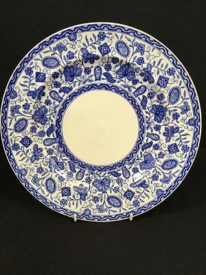 Vintage Antique Crown Derby Blue And White Plate Collectable