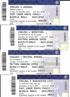 Ticket - Chelsea v Manchester City FA Youth Cup Final 26/4/17