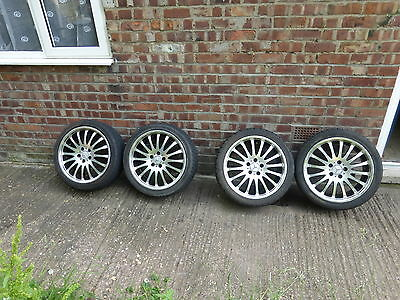 "18"" alloy wheels off mercedes clk with tyres set of 4 alloy wheels"