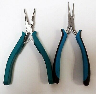 1 Set Of Excelta 2847 Smooth Jaw & Excelta 2847D Serrated Jaw Needle Nose Pliers