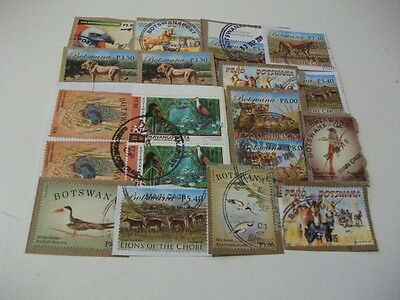 Botswana Issued in 2014 Selection. 19 Stamps