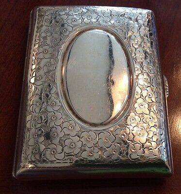 Antique Hallmarked Silver Cigarette Case 1910 'William Henry Sparrow, Birmingham