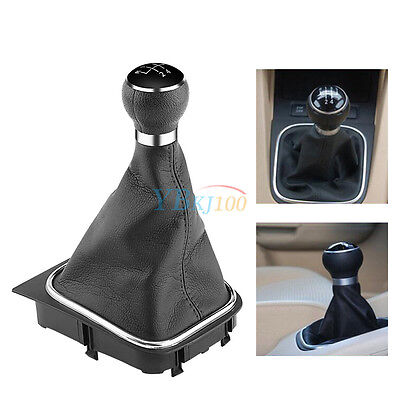5 Speed Car Gear Shift Knob Gaiter Boot Dust Cocer For VW Golf 6 MK5 MK6 Jetta