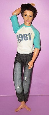 Barbie Ken Doll Fashionista Fashionistas Articulated Poseable Brunette 1961