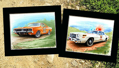THE DUKES OF HAZZARD COLLECTION Fine Art Prints By Billy Tackett