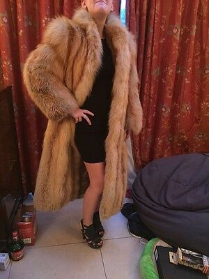 Real Red Fox Full Length Fur Coat