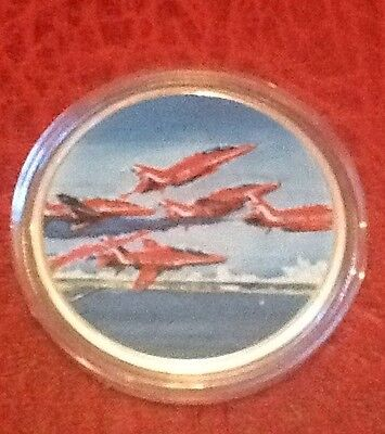RAF Red Arrows 2016 Diamond 9 Medal Coin Collection Red 2 Mint In Capsule