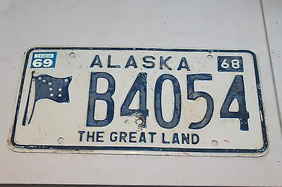 "1968 Alaska "" The Great Land""  License Plate  B4054"