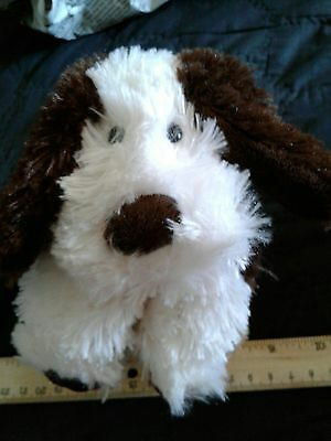 Jellycat Dog Standing White Brown Spots Plush Stuffed Animal  Shaggy Toy Puppy