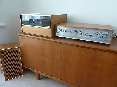 Ferguson Record Player with Radio and speakers - vintage. Teak Wood finish.