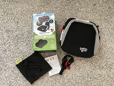 Fabulous Bubblebum Car Booster Seat complete with travel bag and box 4 -11 yrs