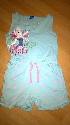 Girls Disney Frozen All in one age 6-7 shorts suit vgc