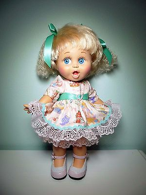 Pixies Hand Made: Dress/ Bloomers/bows:  For Galoob Baby Face Doll