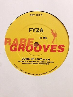 "FYZA - Dome Of Love / Rock Me Easy Vinyl 12"" UK Rare Grooves 1990 Funk Soul"