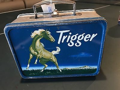 Roy Rogers Vintage Blue trigger Lunch Box