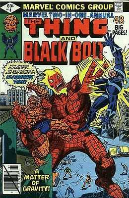 Marvel Two-In-One (1974 series) Annual #4 in Fine - condition. FREE bag/board