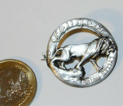 """1910/20's """"Peugeot"""" Tyre Tire motorcycle badge pin (CYCLES MOTOS) -->Scare<--"""