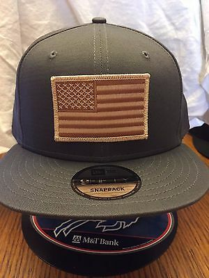 29aef5c3c NEW ERA NE400 Charcoal Snapback Flat Bill Hat/Cap w/ Brown/Tan American Flag