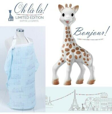 New Bebe au Lait Sophie la Girafe The Giraffe, Blue Nursing Cover Hooter Hiders