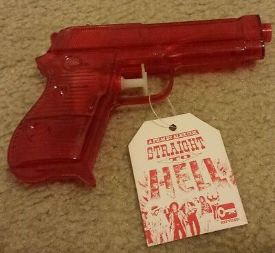 RARE! 1987 Alex Cox Straight to Hell promotional squirt gun promo Key Video