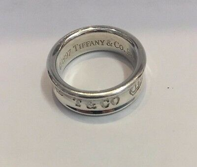 Authentic Tiffany & Co. Sterling Silver 1837 Ring  Size 6 3/4