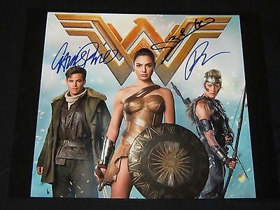 Gal Gadot Chris Pine Robin Wright Wonder Woman Signed Autographed Photo