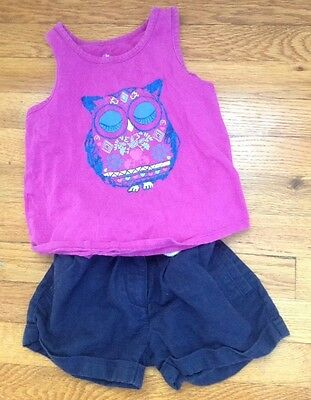 toddler girl tank top and shorts outfit size 3T