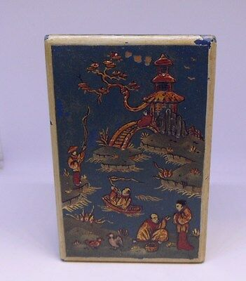 Chinese blue laquer? wooden  box