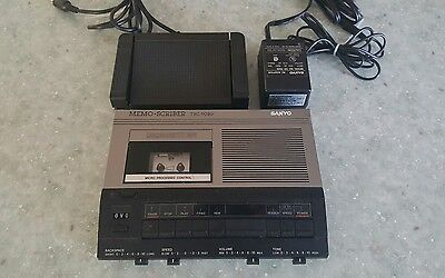 Sanyo Memo-scriber TRC-5020 w/ Foot Pedal / Control FS-53 And Power Cord