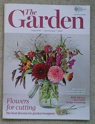 'The Garden' - August 2016 issue - RHS Royal Horticultural Society magazine