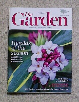 'The Garden' - January 2017 issue - RHS Royal Horticultural Society magazine