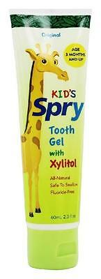 Spry Training Tooth Gel with Xylitol for Kids/Toddler, Original Flavor, 2 oz.