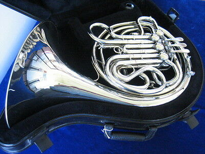 """Extra Clean Holton H-175 """"merker"""" Nickel Silver Double French Horn W/warranty!"""