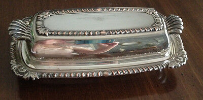 3 pc. Silverplated butter dish