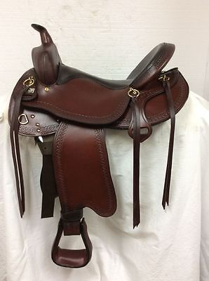 "Big Horn Evolution Trail Saddle #1691 17"" Used Medium Plus Quarter Horse Bars"