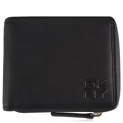 Mens DKNY Designer Zip Leather Wallets RRP tag of £60 brand new, free delivery