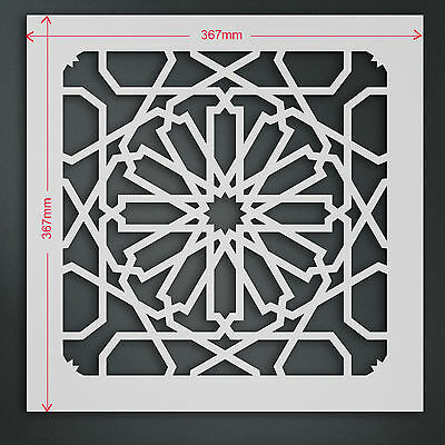 Large Moroccan Tile Stencil Template #7: For Walls & Fabric Painting   ST28XL