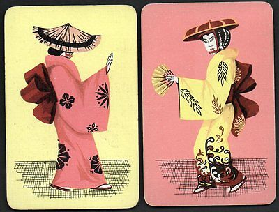 Vintage Playing Cards :  JAPANESE LADIES IN KIMONO'S