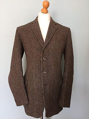 Vintage Bespoke Three 3 Piece Tweed Suit Size 40 42