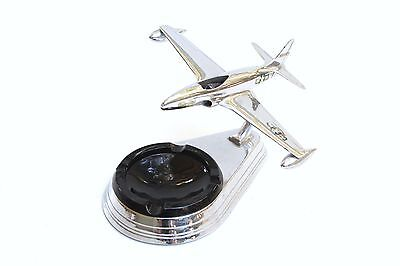 Vintage P-80 Fighter Jet Desk Top Airplane Model Ash Tray by Allyn Sales Co.